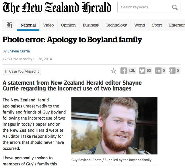 Газета случайно поместила фотографию актера вместо убитого израильского солдата